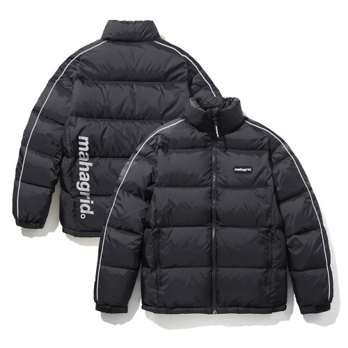 REFLECTIVE PUFFY DOWN JACKET[BLACK]