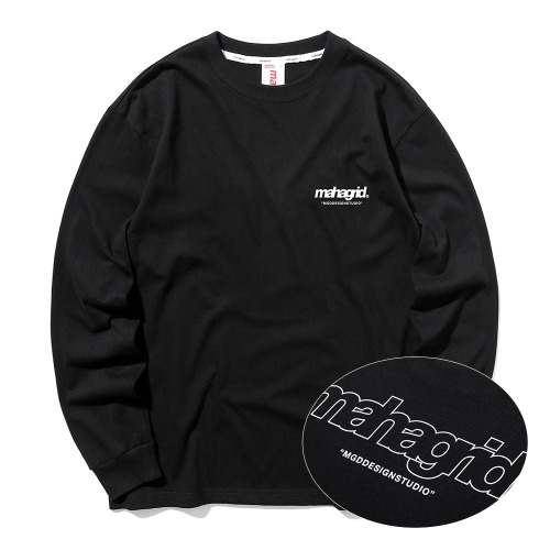 BACK THIRD LOGO LS TEE[BLACK]