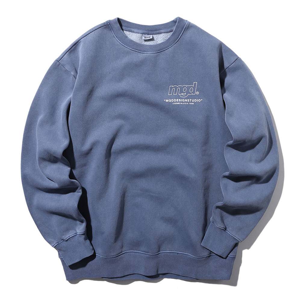 LICENSE PIGMENT CREWNECK[NAVY]