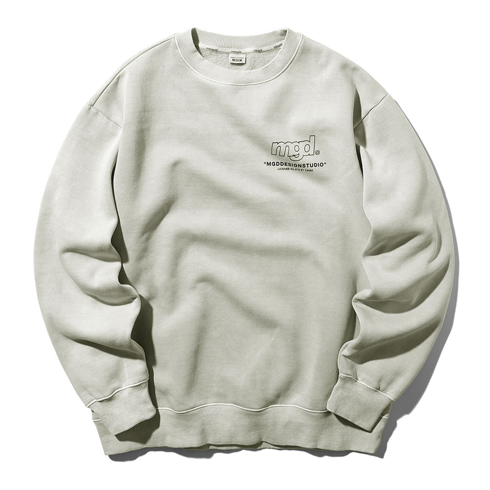 LICENSE PIGMENT CREWNECK[BEIGE]