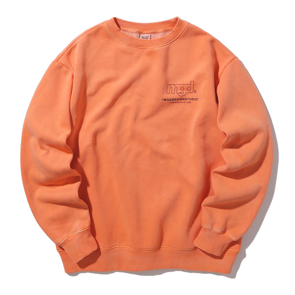 LICENSE PIGMENT CREWNECK[ORANGE]