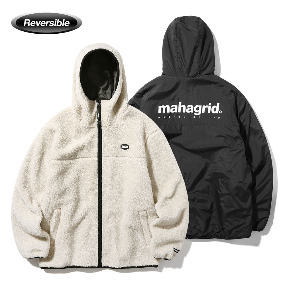 REVERSIBLE FLEECE PARKA[BLACK]