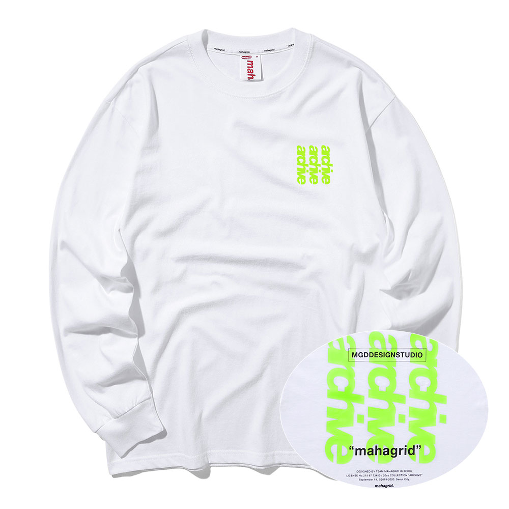 ARCHIVE LS TEE[WHITE]