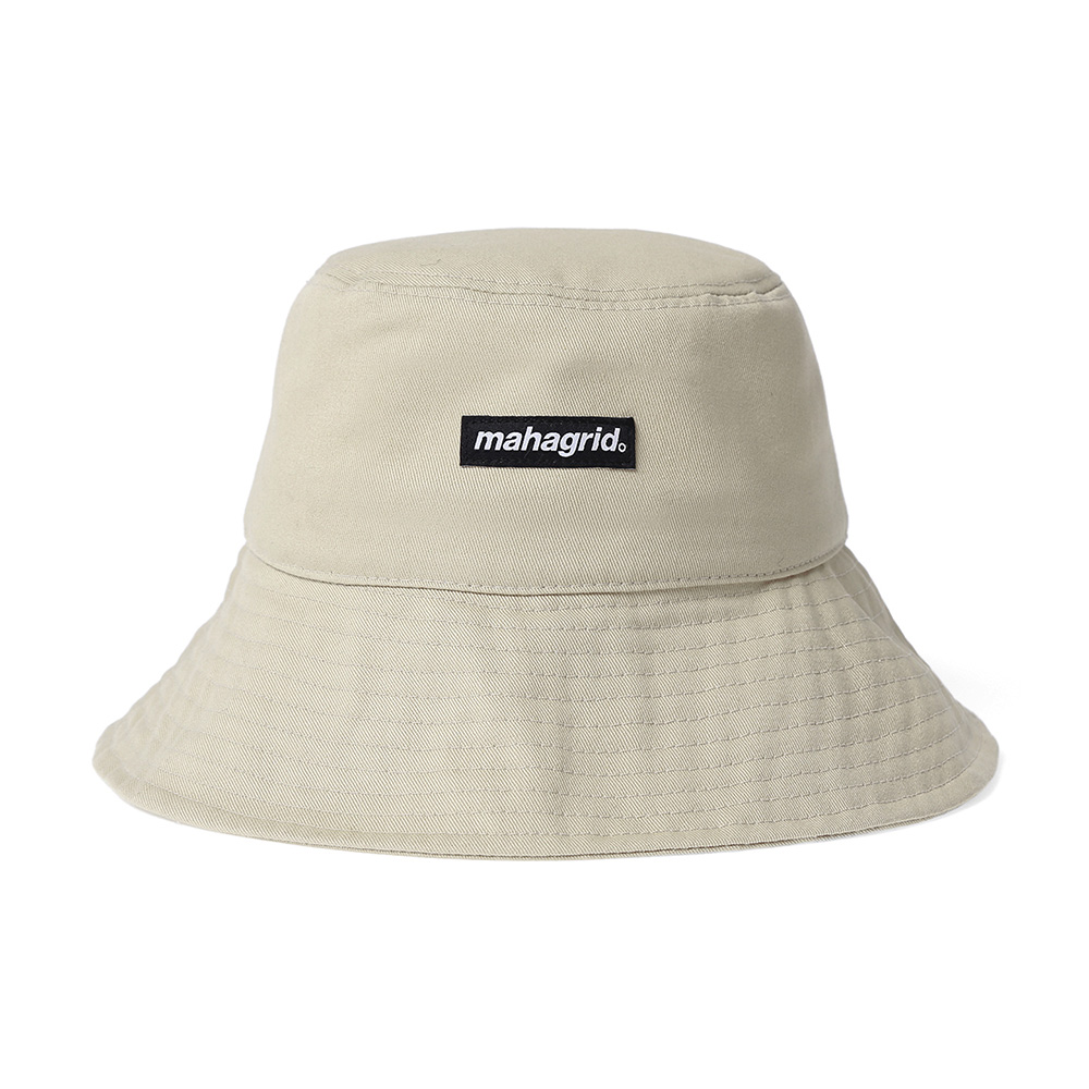 BASIC LOGO BUCKET HAT[BEIGE]