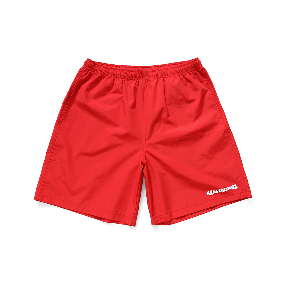 WAVY LOGO SHORTS[RED]