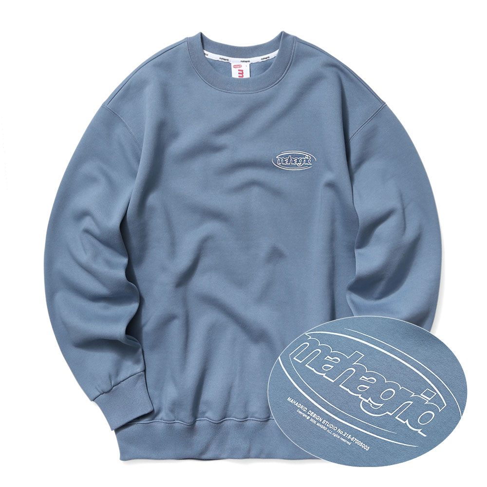 OVAL LOGO SWEATSHIRT[BLUE]
