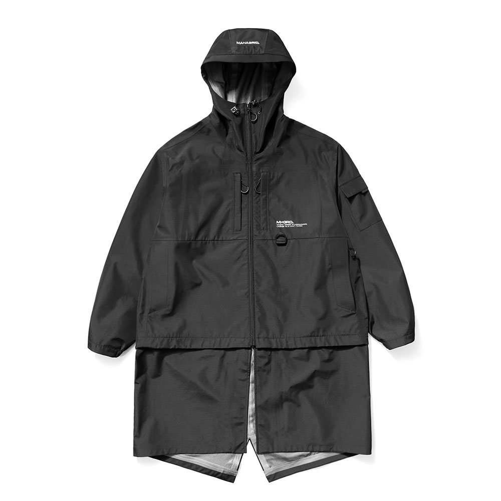 3-LAYER OVERSIZED TRANSFORM WINDBREAKER[BLACK]