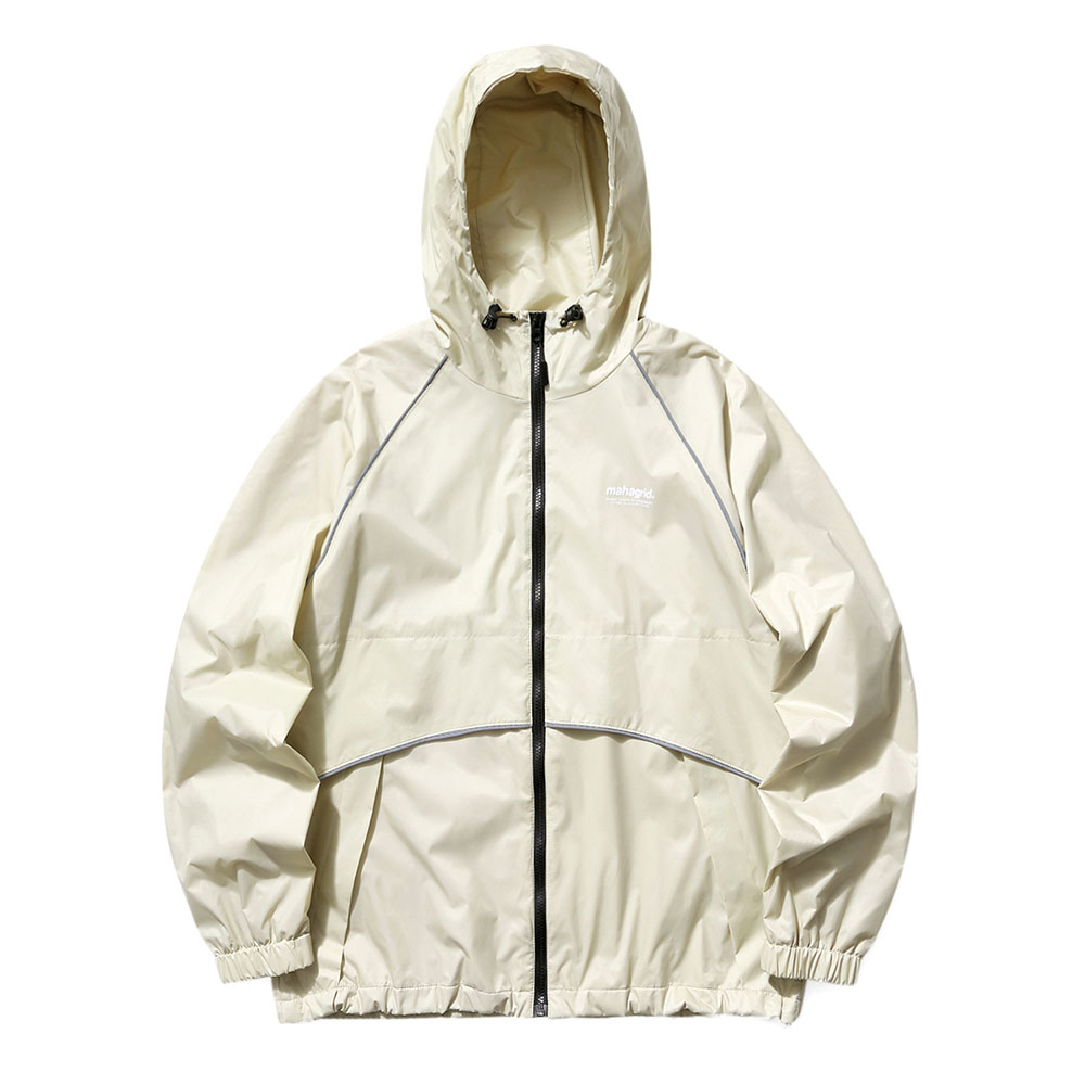 REFLECTIVE WIND BREAKER[BEIGE]