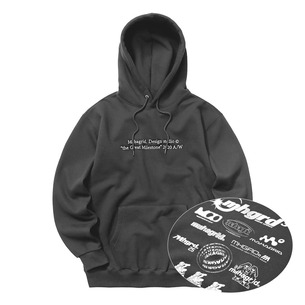 LOGO ARCHIVE HOODIE[CHARCOAL]