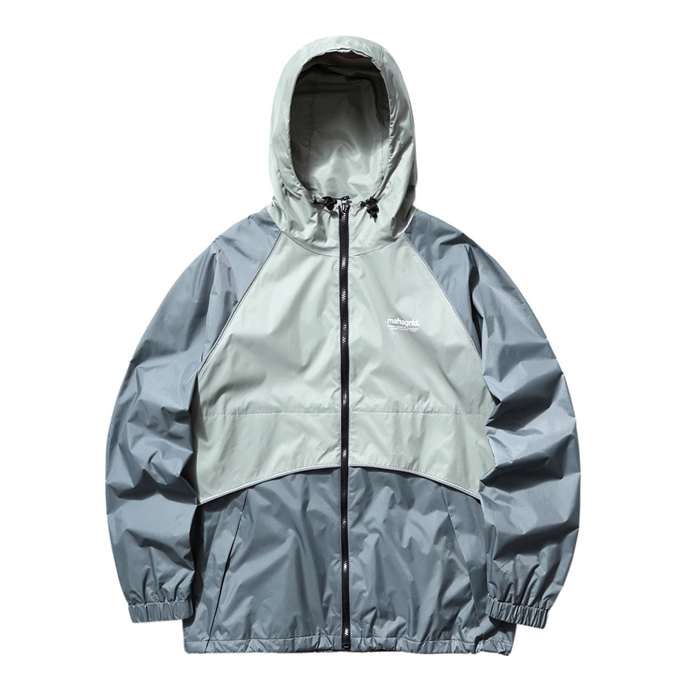 REFLECTIVE WIND BREAKER[GREY]