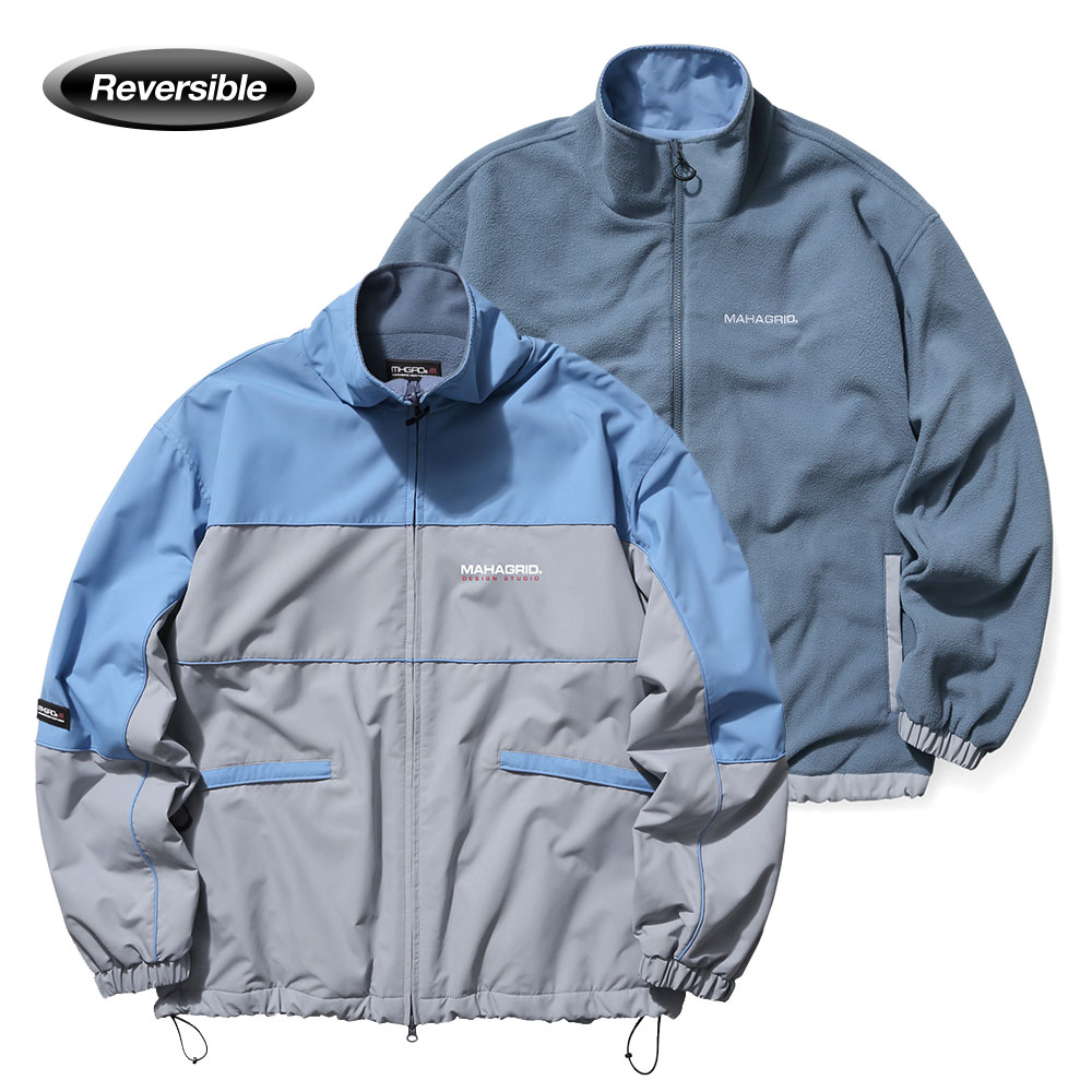 REVERSIBLE FLEECE TRACK JACKET[GREY]