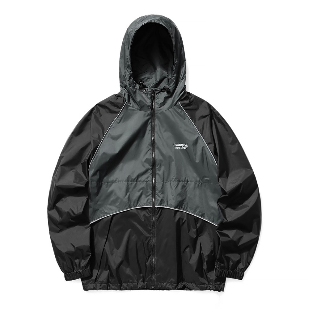 REFLECTIVE WIND BREAKER[BLACK]