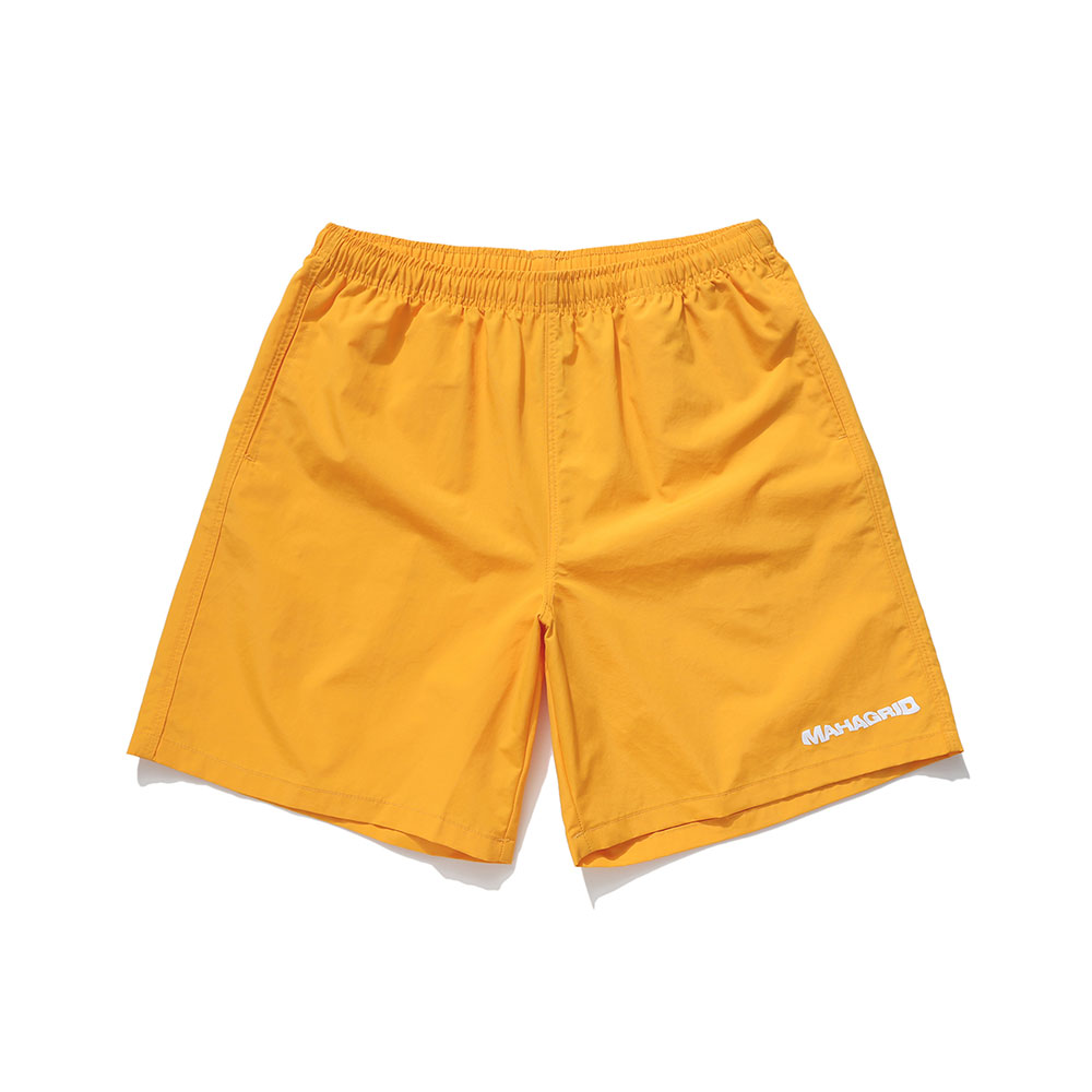 WAVY LOGO SHORTS[YELLOW]