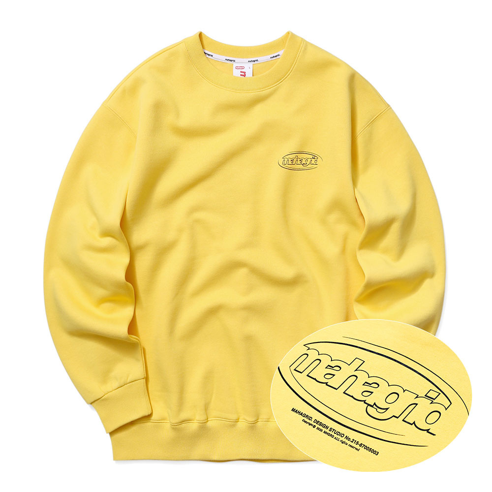 OVAL LOGO SWEATSHIRT[YELLOW]