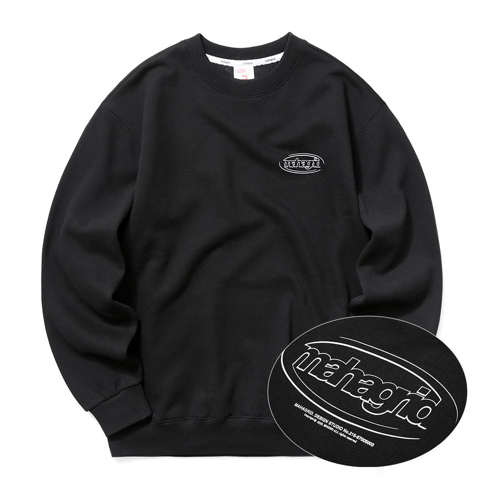 OVAL LOGO SWEATSHIRT[BLACK]