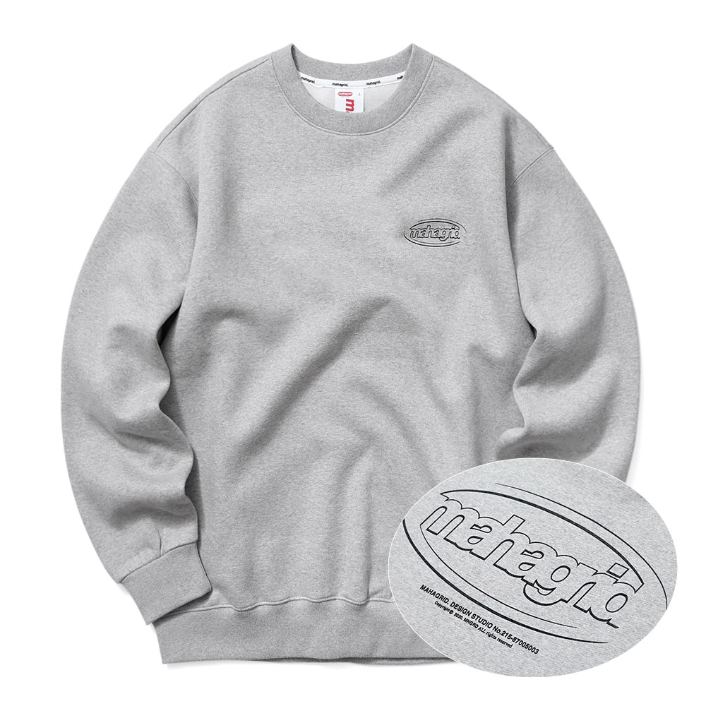 OVAL LOGO SWEATSHIRT[GREY]